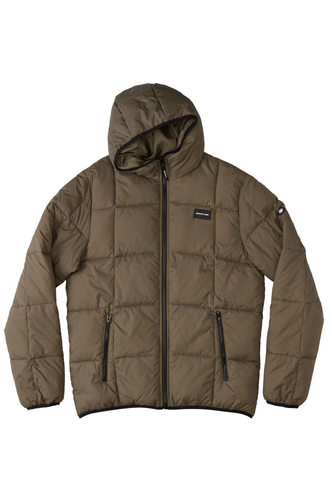 DC Shoes Jacket Wind Breaker SQUARE UP PUFFER Ivy Green
