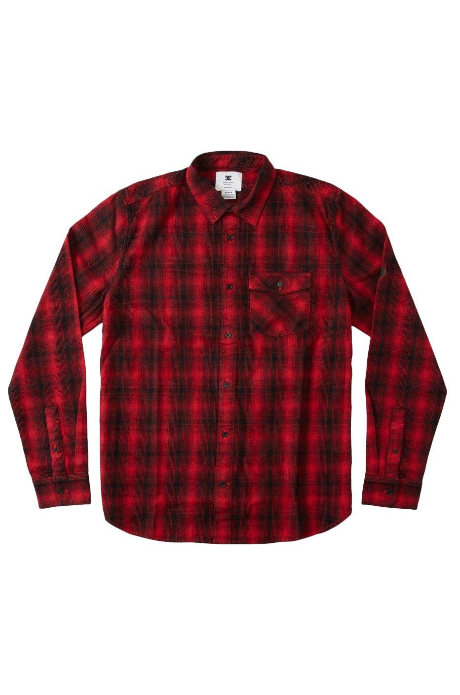 DC Shoes Shirt MARSHAL LS Chili Pepper Shadow Plaid