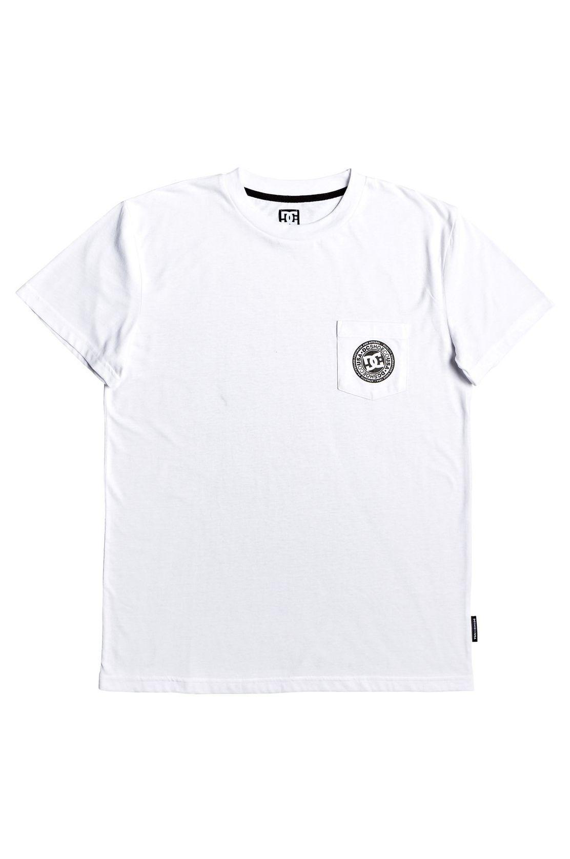DC Shoes T-Shirt BASIC POCKET TEE 4 Snow White