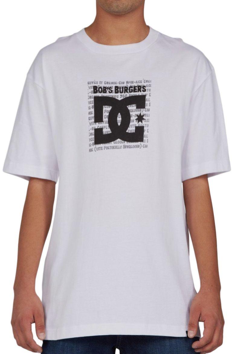 T-Shirt DC Shoes BURGER BOX HSS M BOB'S BURGERS White
