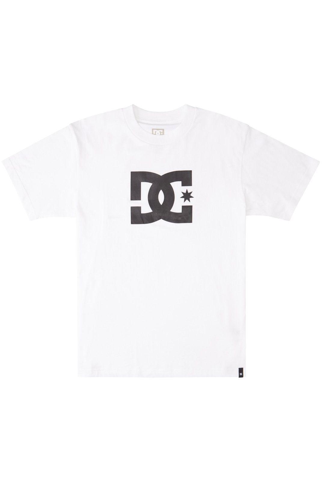 T-Shirt DC Shoes DC STAR HSS White