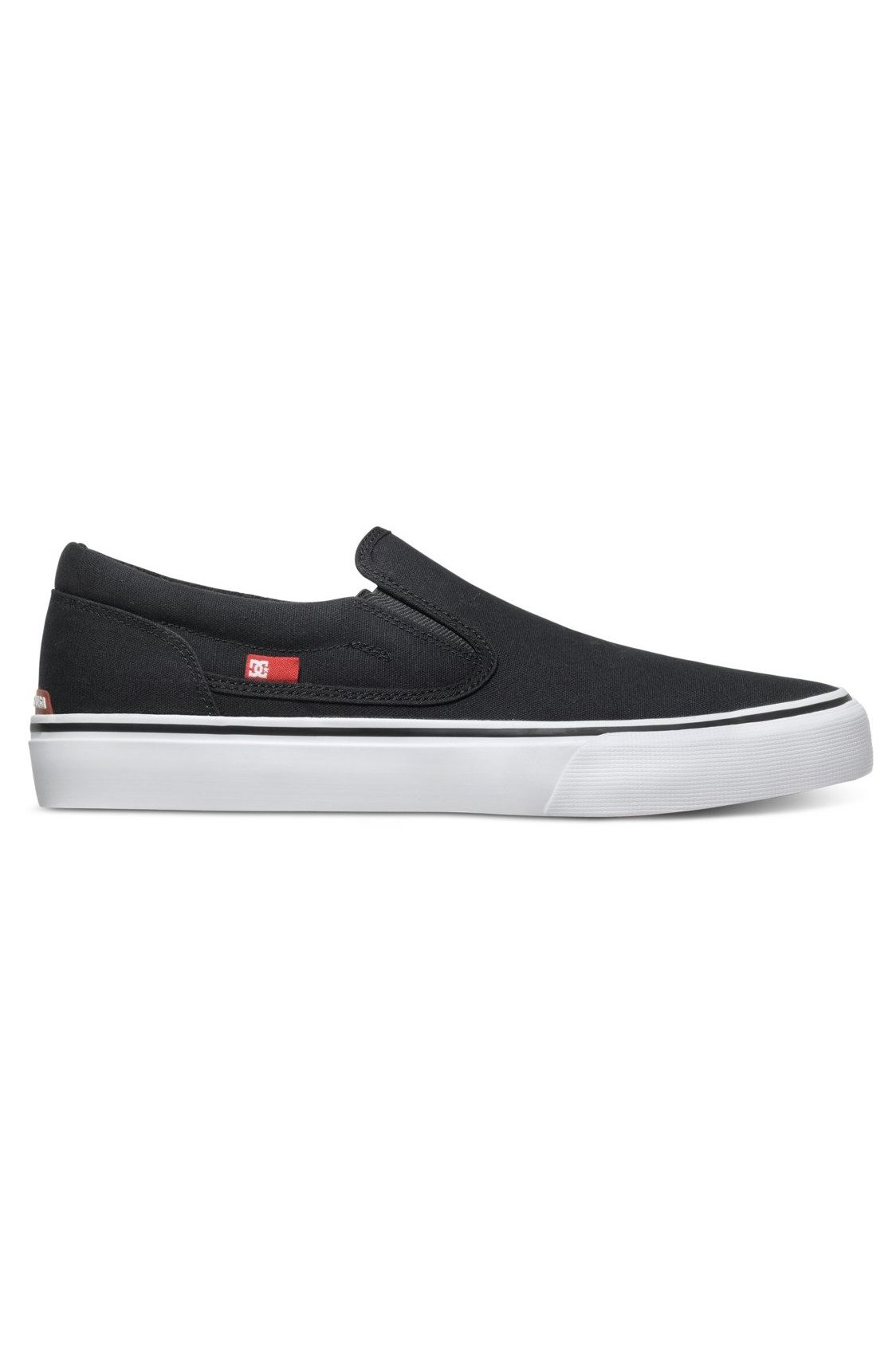 Tenis DC Shoes TRASE SLIP-ON TX Black/White