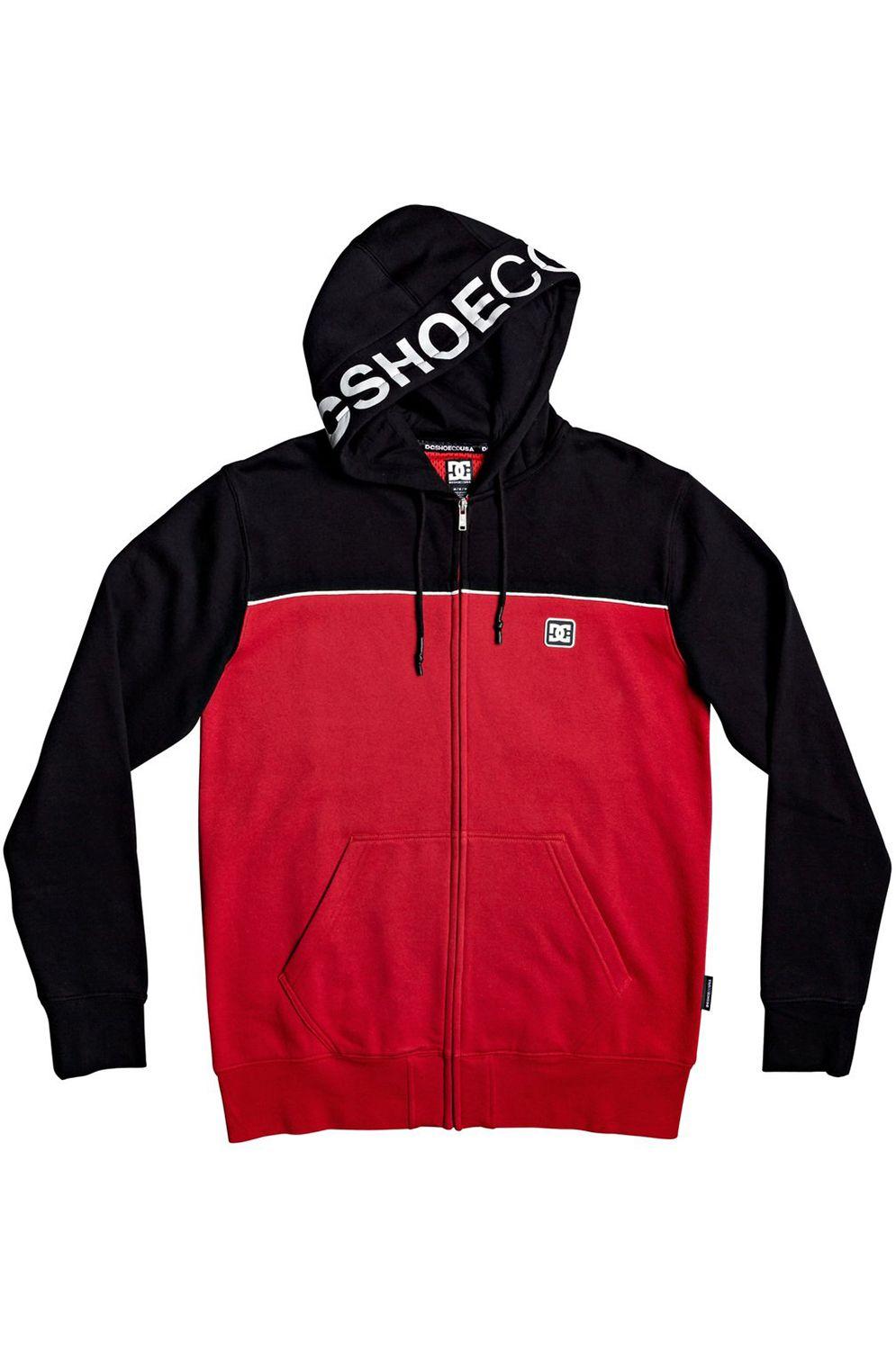 DC Shoes Sweat Zip Hood WEPMA Black/Racing Red