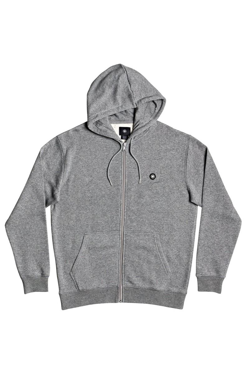 Sweat Fecho DC Shoes RIOT ZH Medium Grey Heather