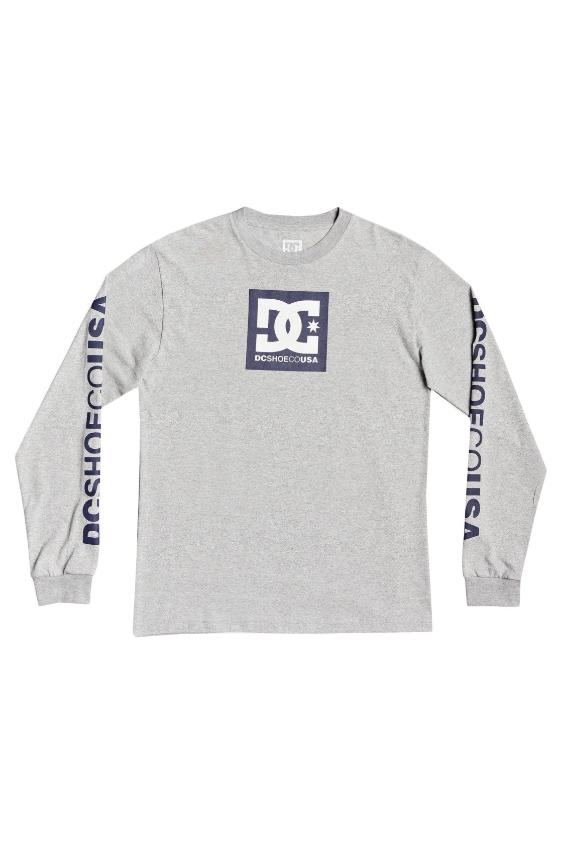 DC Shoes L-Sleeve SQUARE STAR LS BOY Heather Grey