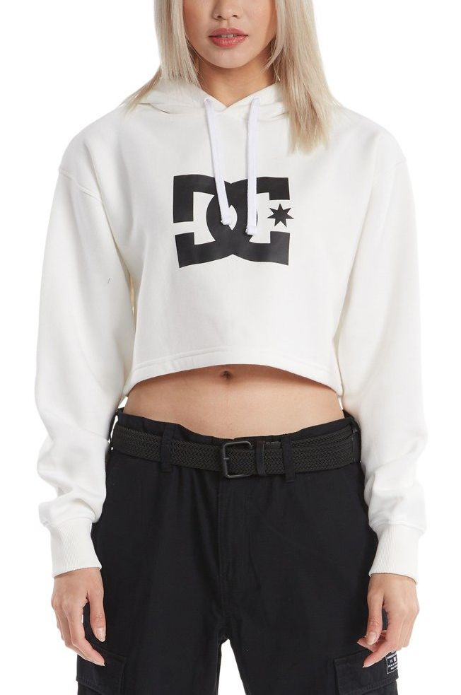 DC Shoes Sweat Hood DC STAR CROPPED HOODIE White