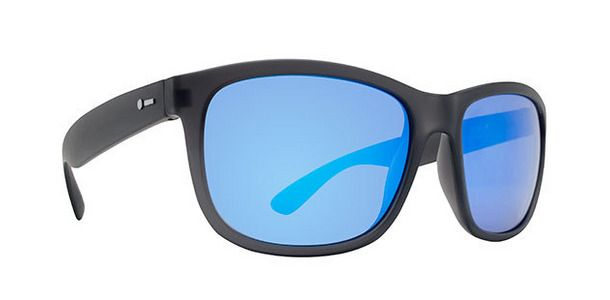 Dot Dash Sunglasses POSEUR Soft Charcoal Satin / Ice Blue Chrome