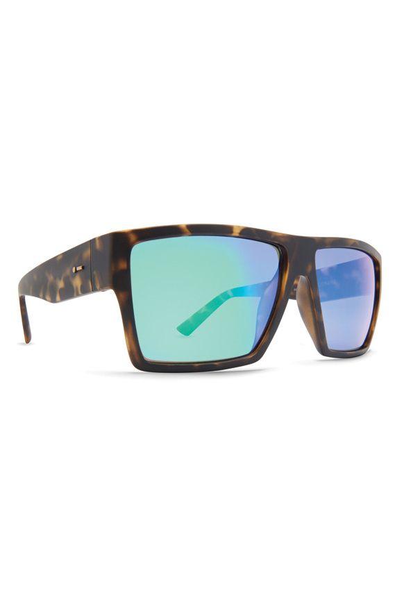 Dot Dash Sunglasses NILLIONAIRE Tort Satin / Green Chrome