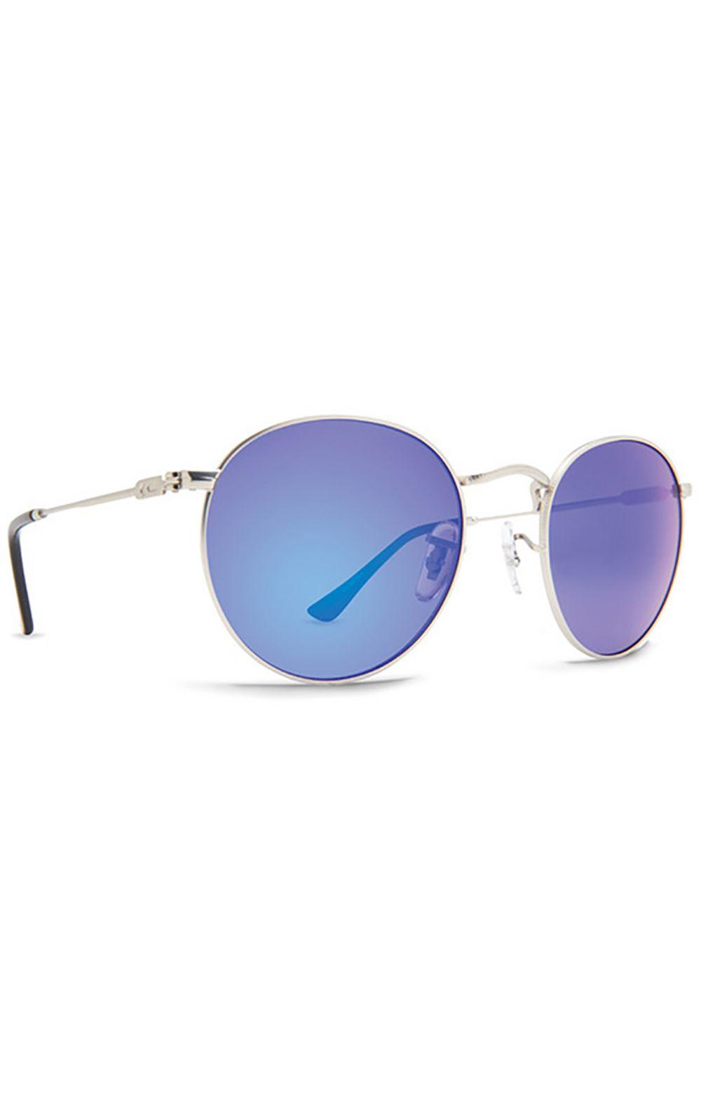 Oculos Dot Dash VELVETINA Silver Satin / Blue Chrome