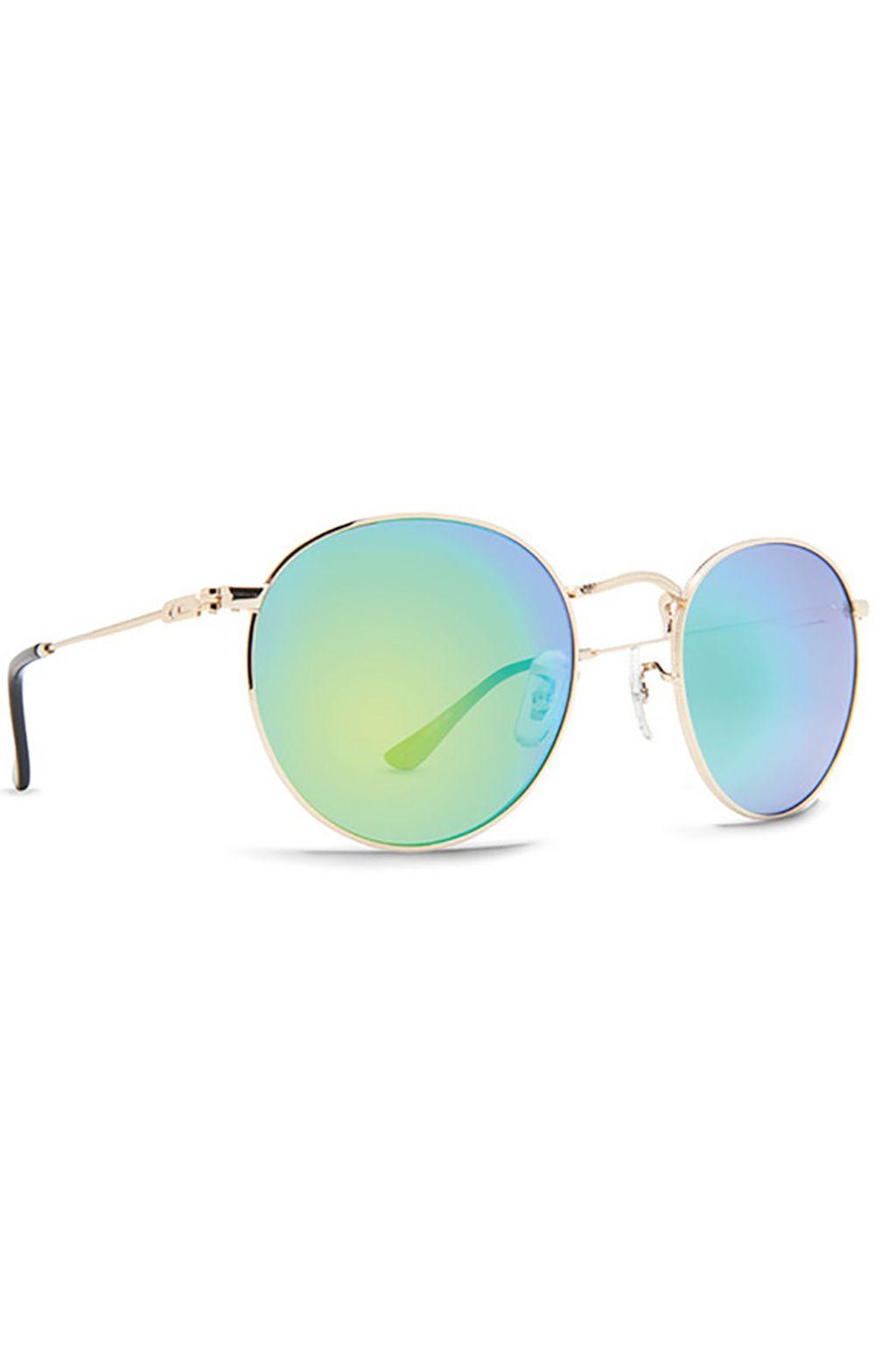 Oculos Dot Dash VELVETINA Gold / Green Chrome