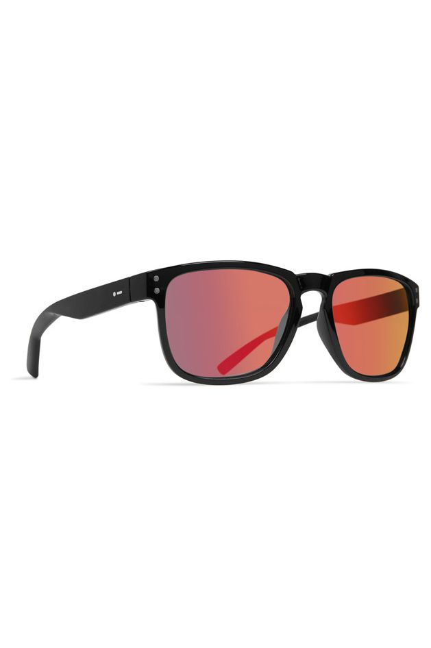 Dot Dash Sunglasses BOOTLEG Black Gloss / Red Chrome