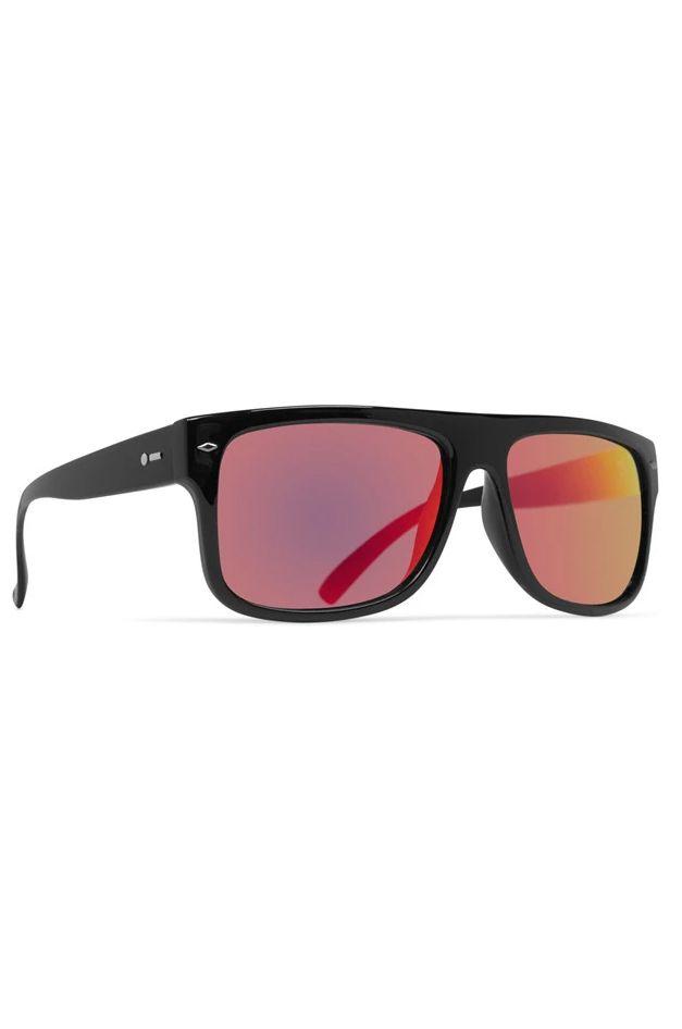 Dot Dash Sunglasses SIDECAR Black Gloss / Red Chrome