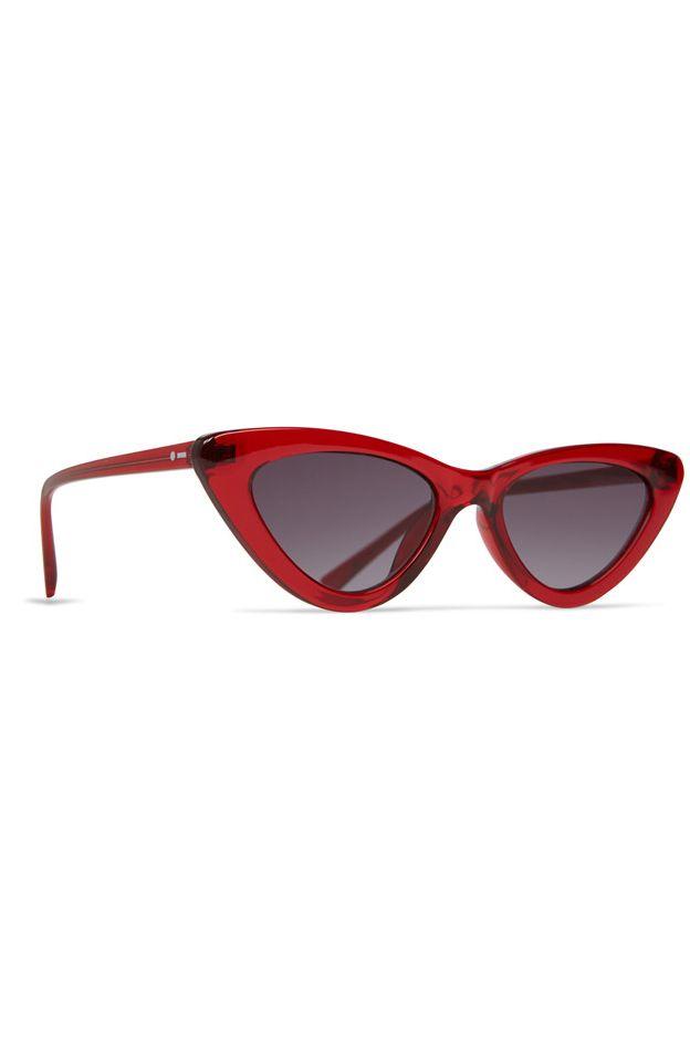Dot Dash Sunglasses FABULIST Transluscent Red / Grey Gradient