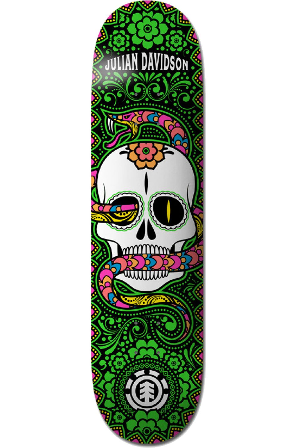 "Element Skate Board CALAVERA JULIAN 8.25"" DAY OF THE DEAD Assorted"