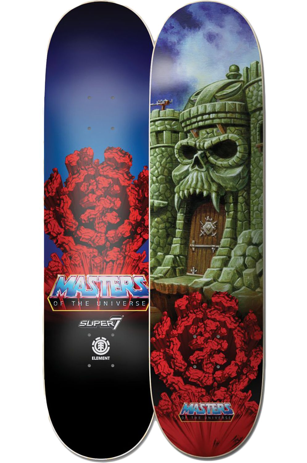 """Element Skate Board 8"""" GRAYSKULL MASTERS OF THE UNIVERSE Assorted"""