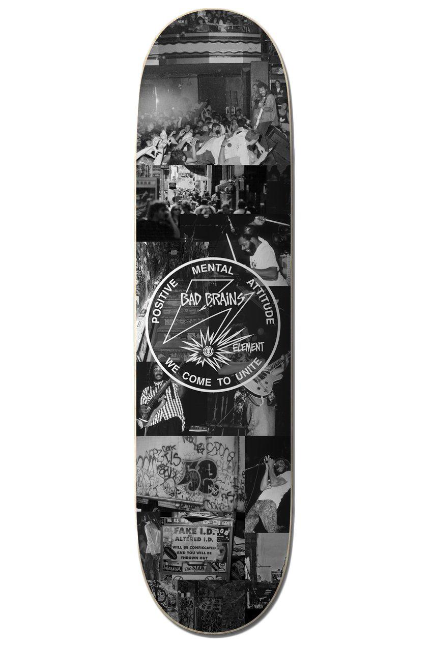 "Element Skate Board 8.5"" BAD BRAINS X BJ Assorted"