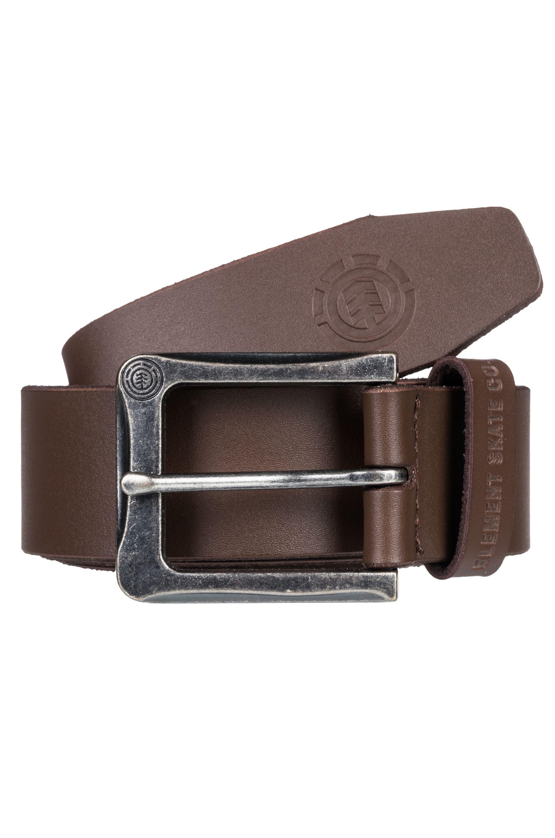 Element Leather Belt POLOMA Chocolate