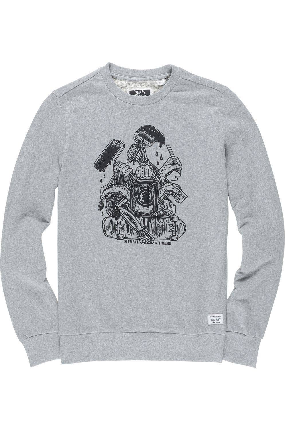 Sweat Basica Element BY HAND TIMBER COLLECTION Grey Heather