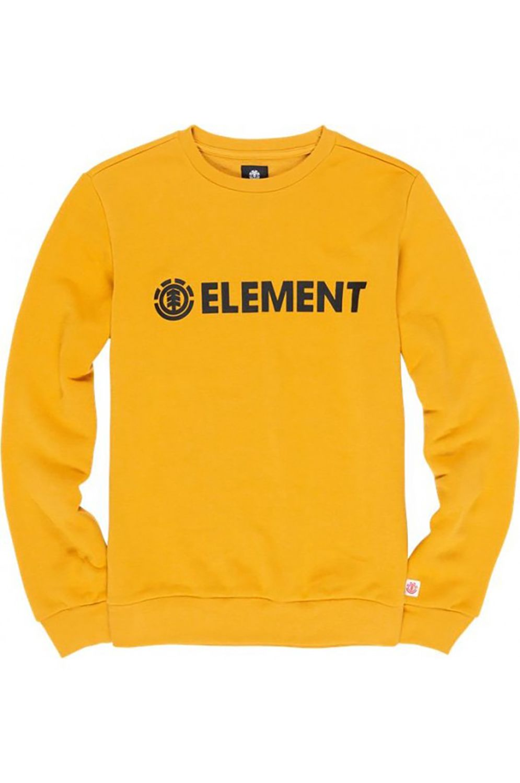 Element Crew Sweat BLAZIN Mineral Yellow