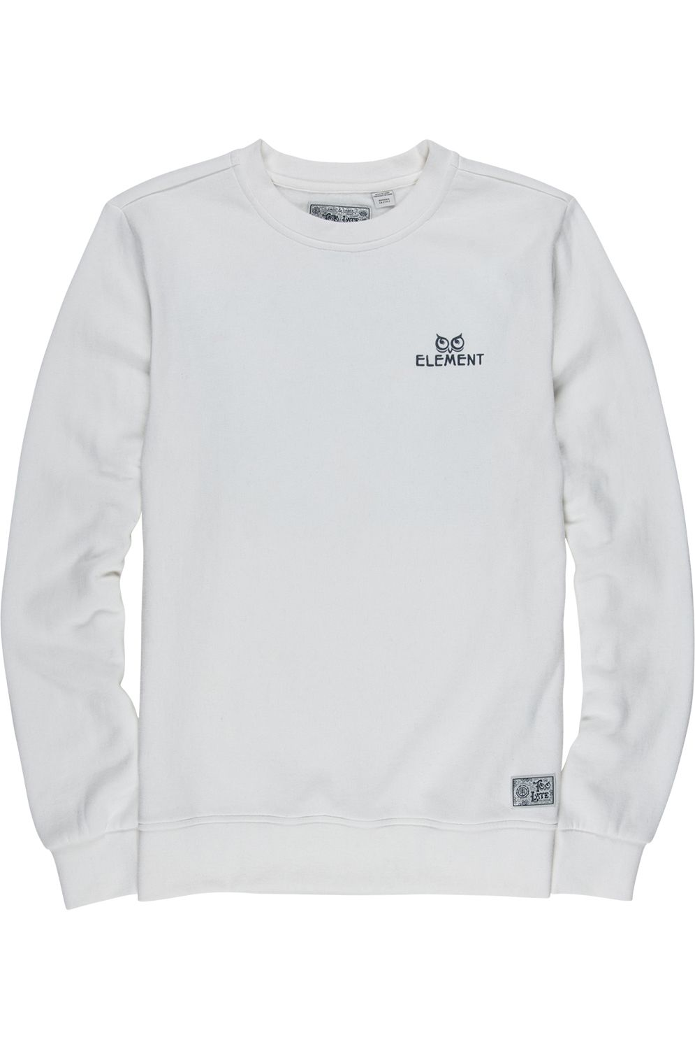 Element Crew Sweat IN THE OWL TIMBER COLLECTION Off White