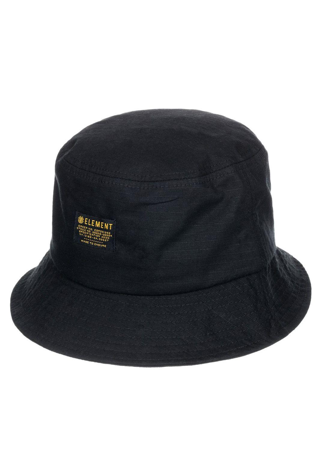 Element Cap EAGER BUCKET HAT Flint Black