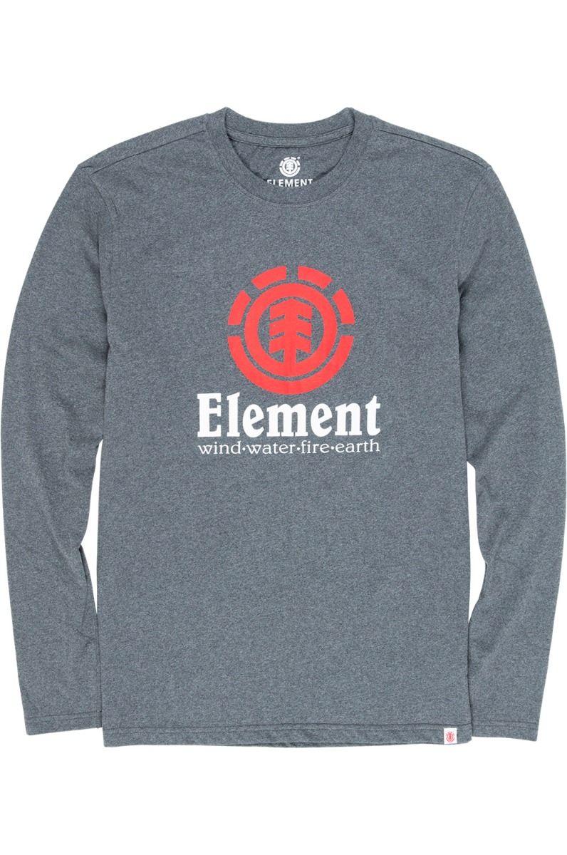 Element L-Sleeve VERTICAL LS Charcoal Heather