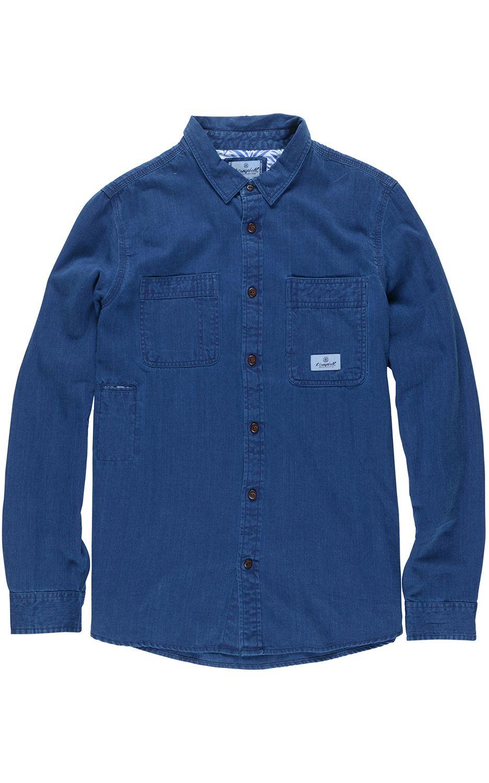Camisa Element COLLAGE INDIGO Dark Blue Indig