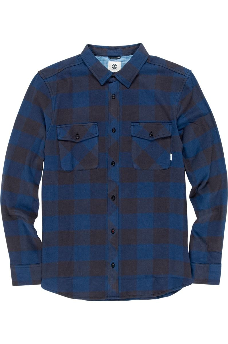 Camisa Element TACOMA 2COLORS LS Indigo