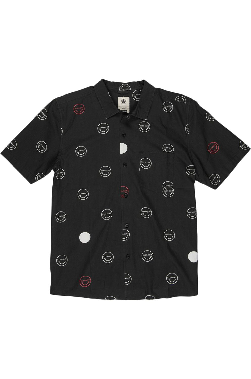 Element Shirt POLKA SMILE SS Hello Black