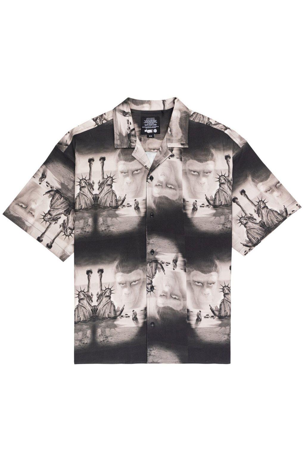 Element Shirt POTA PARADISE SS SHI Off Black