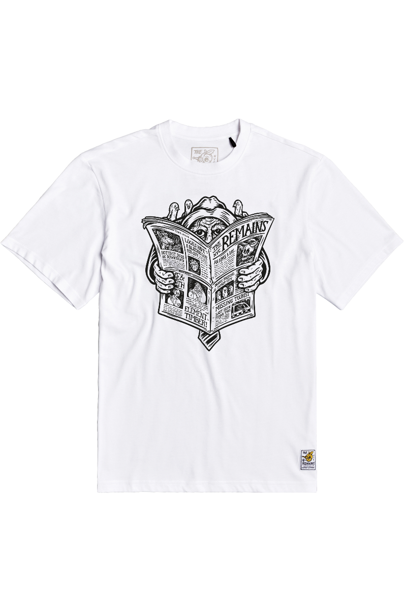 T-Shirt Element NEWS MAN TIMBER COLLECTION Optic White