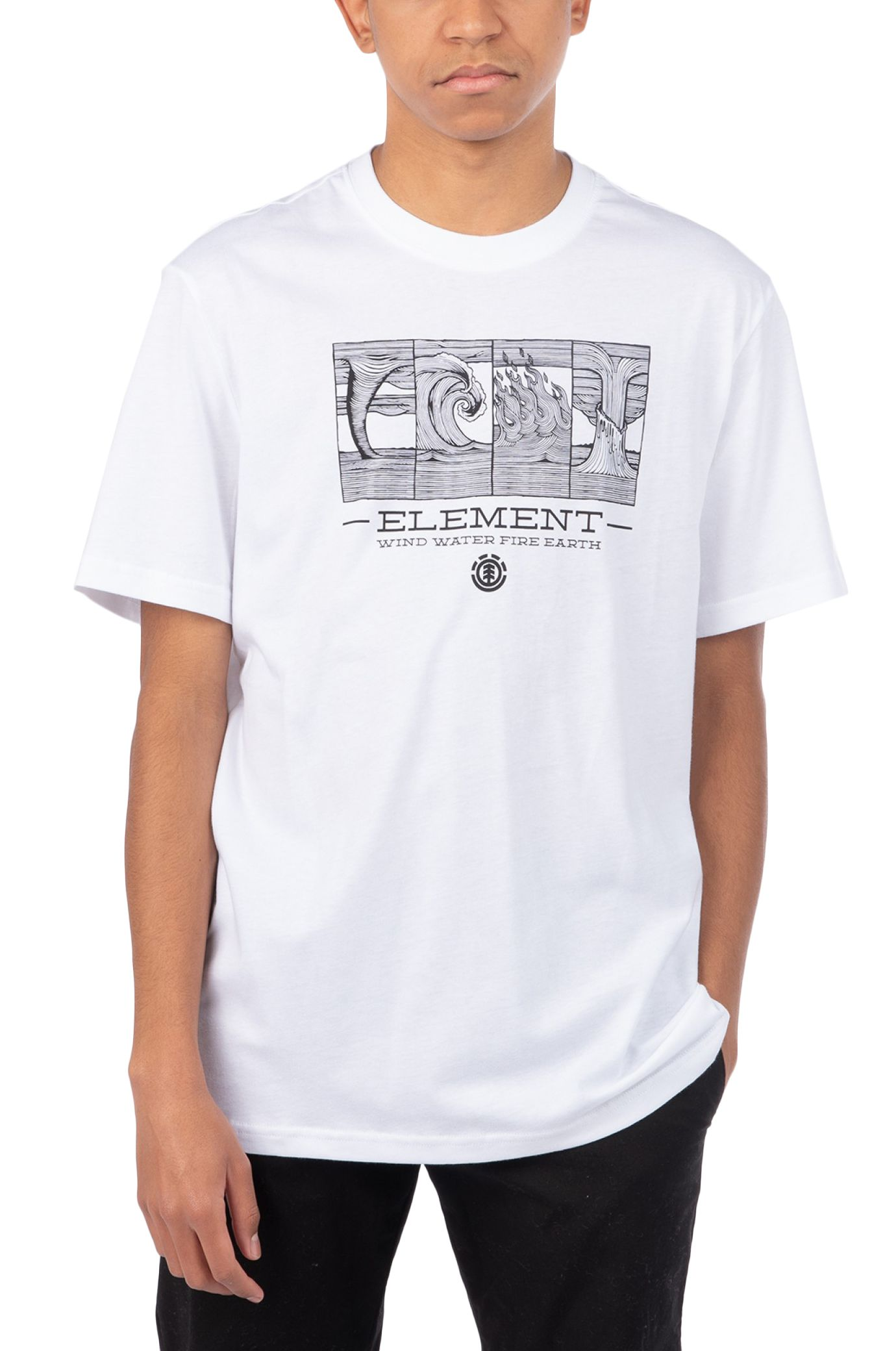 T-Shirt Element WWFE FRONT SS POWER TO THE PLANET Optic White