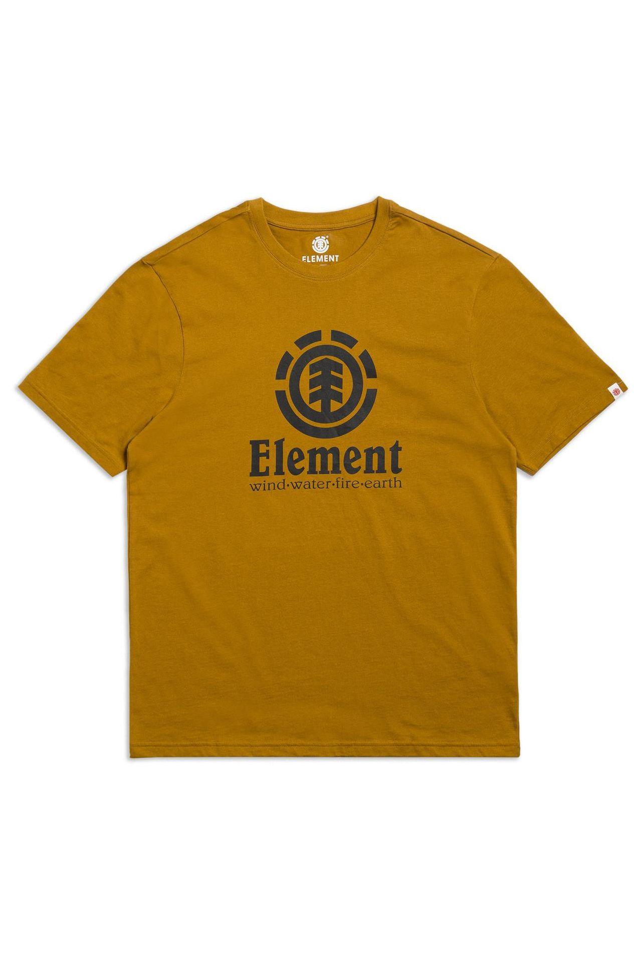 T-Shirt Element VERTICAL SS Gold Brown