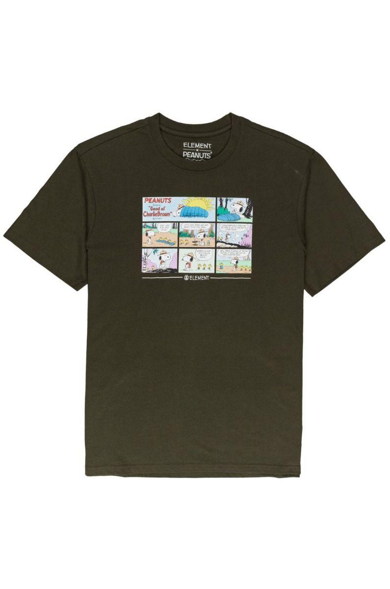 T-Shirt Element PEANUTS CAMPER SS PEANUTS Army