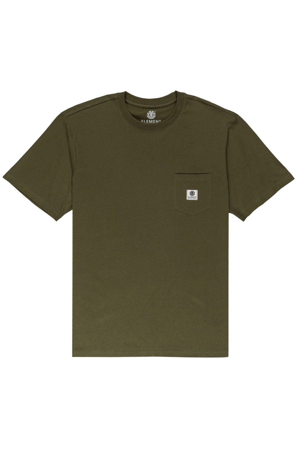 T-Shirt Element BASIC POCKET LABEL Army