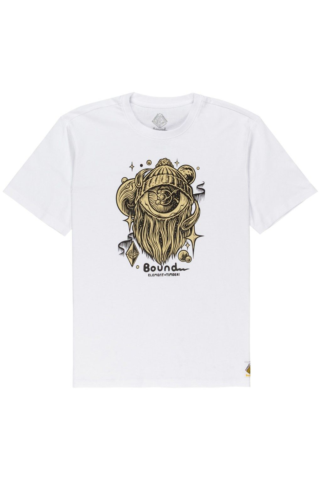 Element T-Shirt A WORLD APART SS TIMBER COLLECTION Optic White