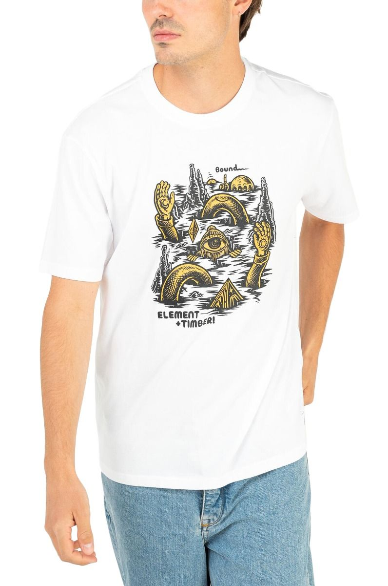 Element T-Shirt CRACKS SS TIMBER COLLECTION Optic White