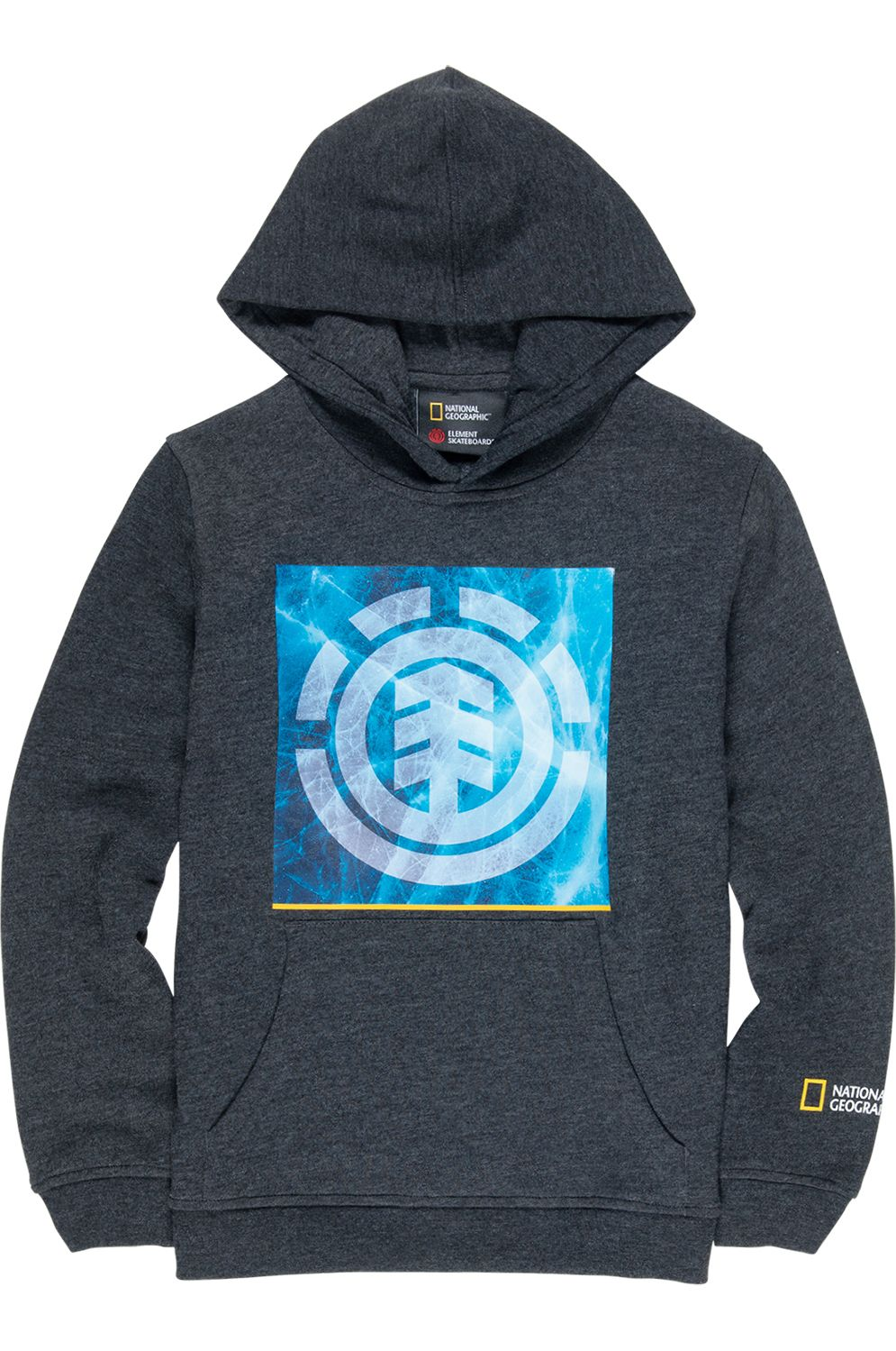 Element Sweat Hood SOLVENT ICON NATIONAL GEOGRAPHIC Charcoal Heather