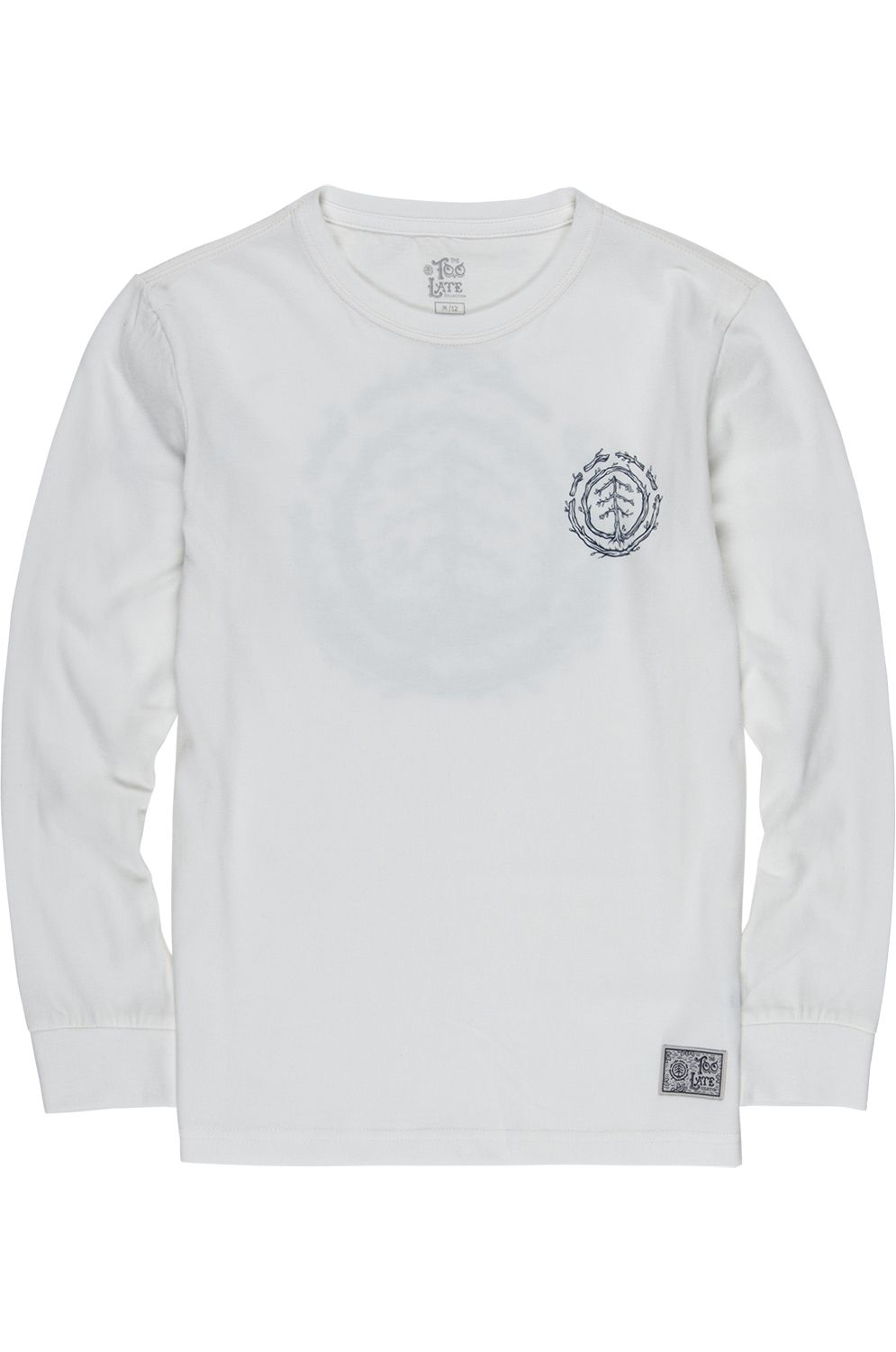 Element L-Sleeve TOO LATE LOGO TIMBER COLLECTION Off White