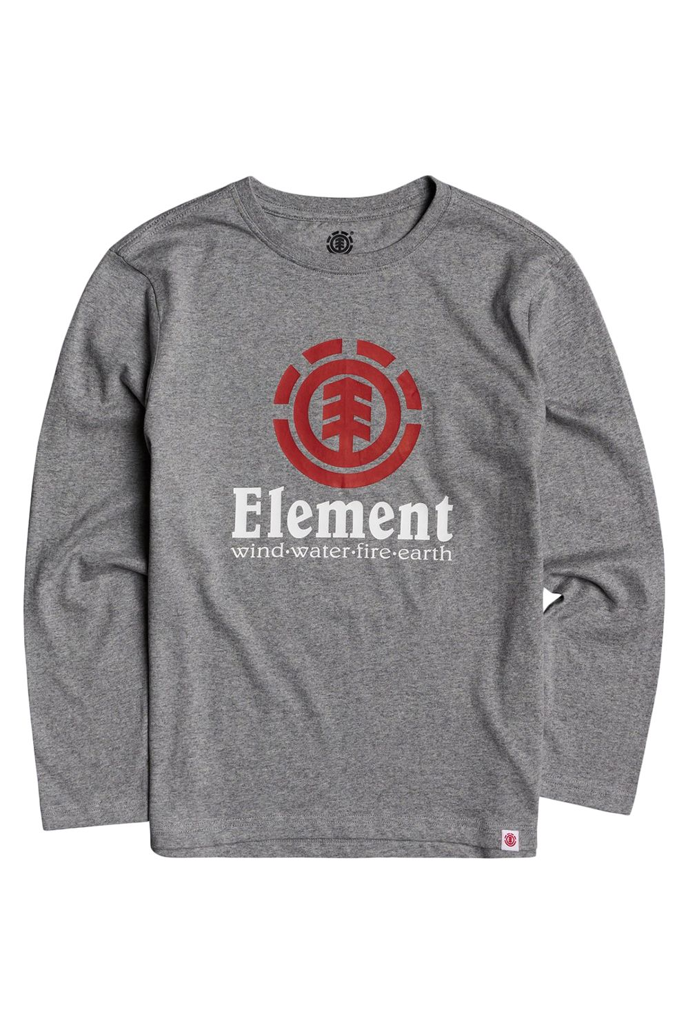Element L-Sleeve VERTICAL LS BOY Charcoal Heather