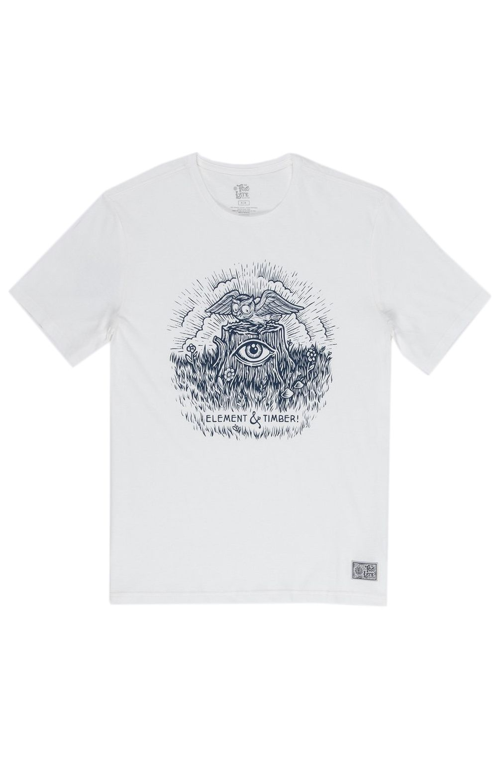 T-Shirt Element TOO LATE STUMP TIMBER COLLECTION Off White