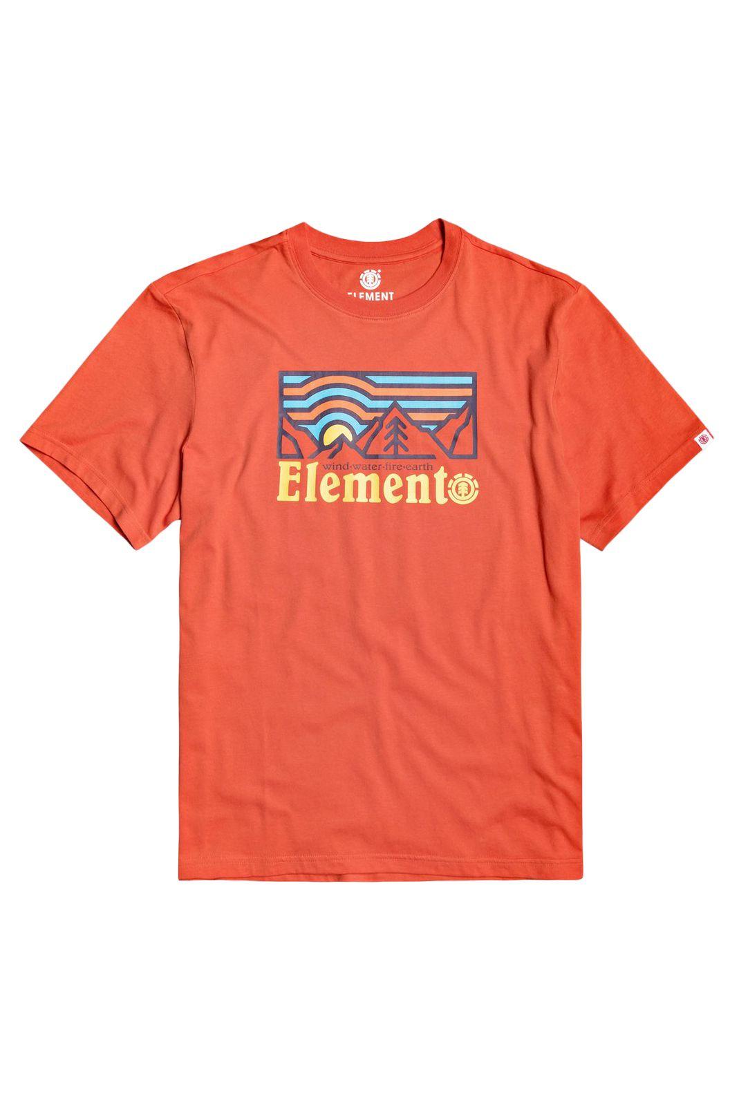 T-Shirt Element WANDER SS BOY Red Clay