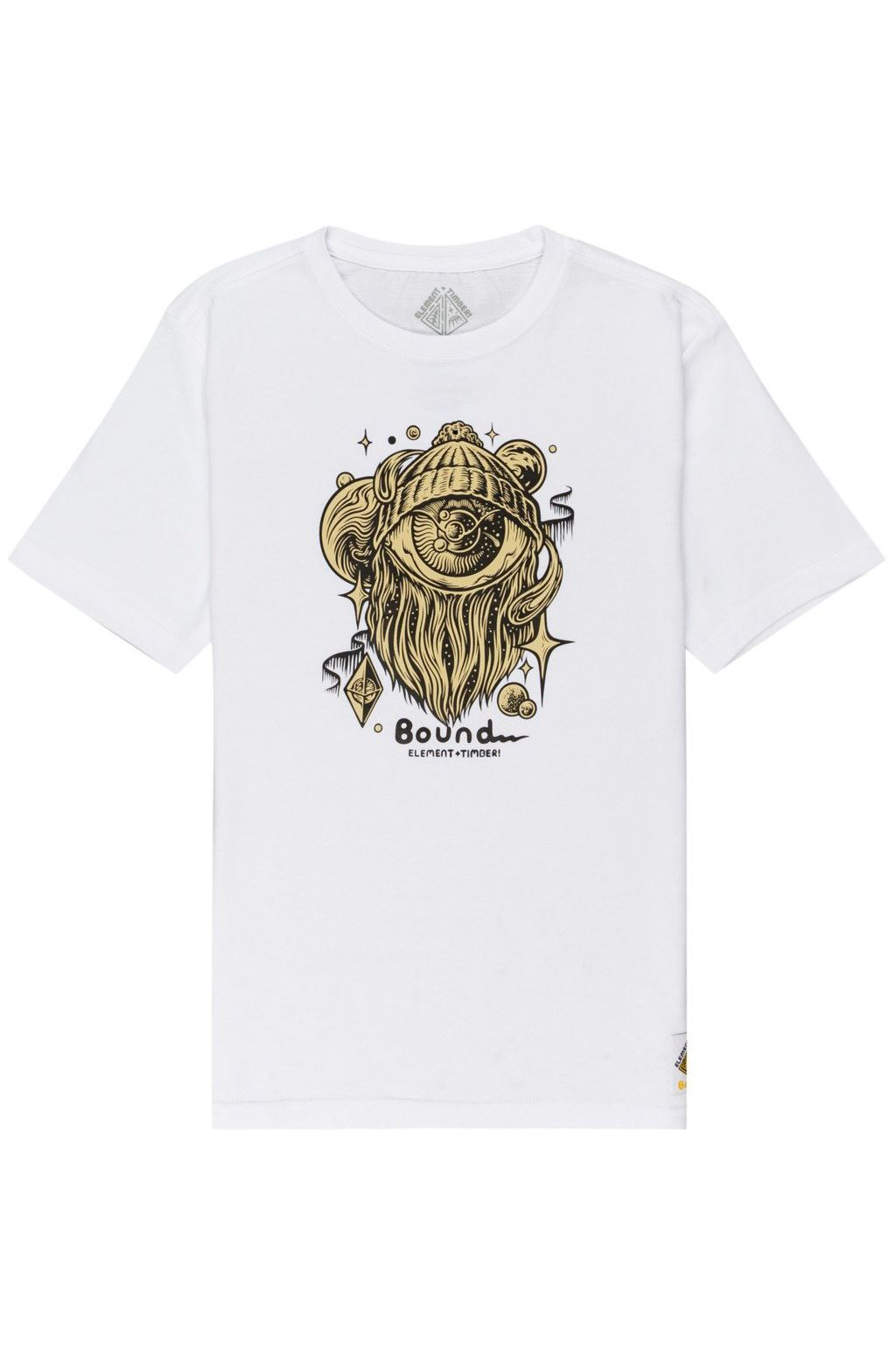 Element T-Shirt A WORLD APART SS YOU TIMBER COLLECTION Optic White