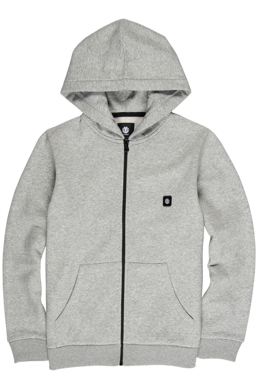 Element Sweat Zip Hood 92 BOY Grey Heather