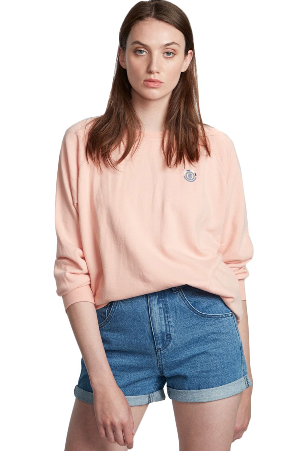 Element Crew Sweat BRANDED Coral Pink