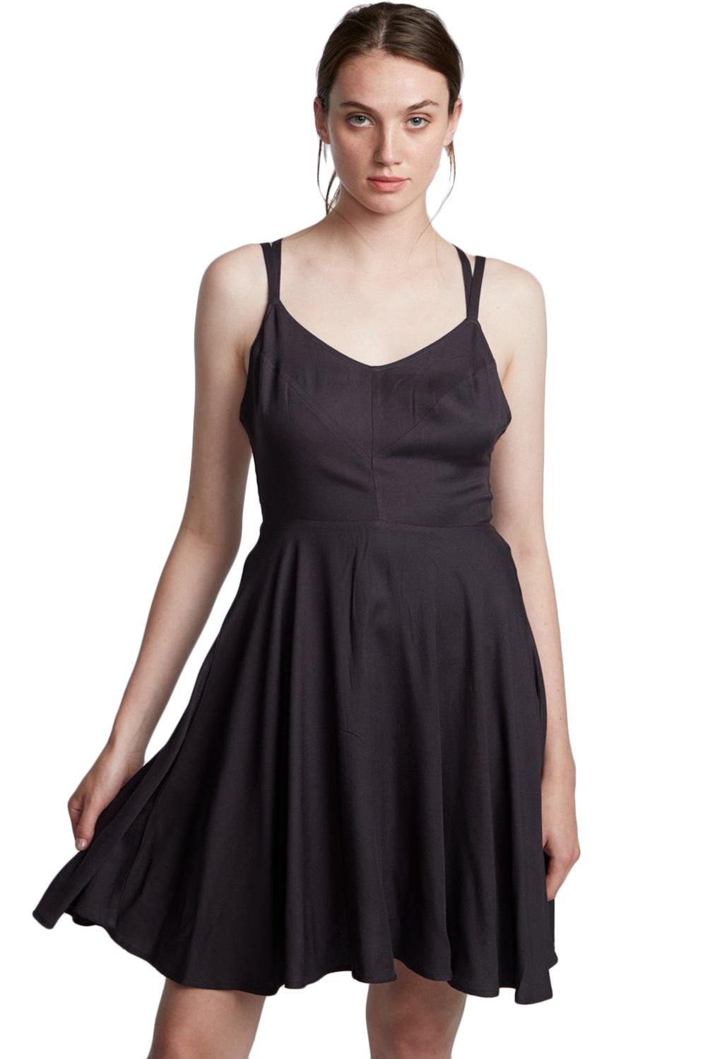 Vestido Element HEART TWILL Off Black