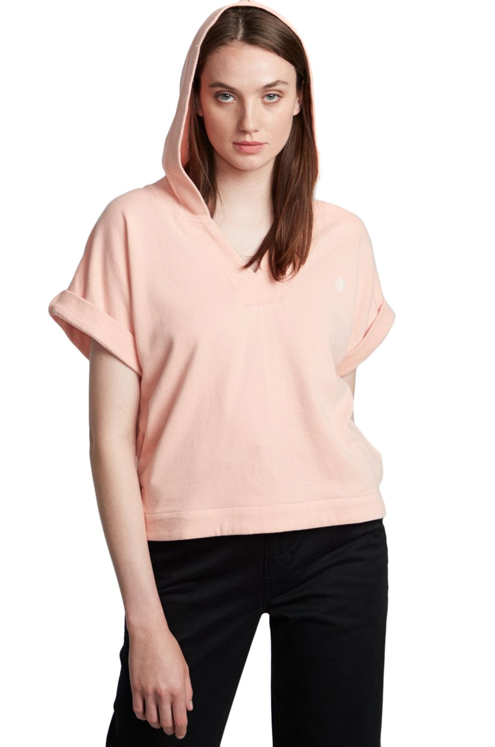 Element Sweat Hood HUM ALONG Coral Pink