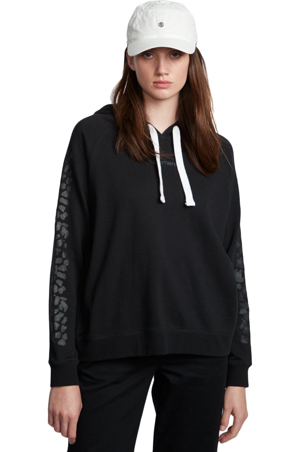 Element Sweat Hood BRANDED Flint Black