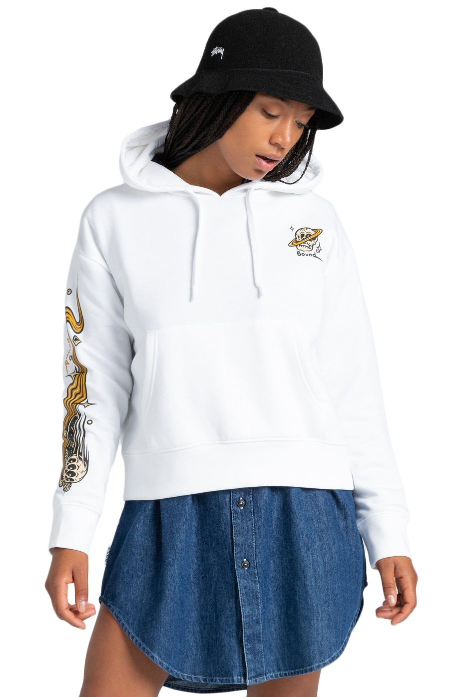 Element Sweat Hood TRANSENDER HOOD W TIMBER COLLECTION Optic White