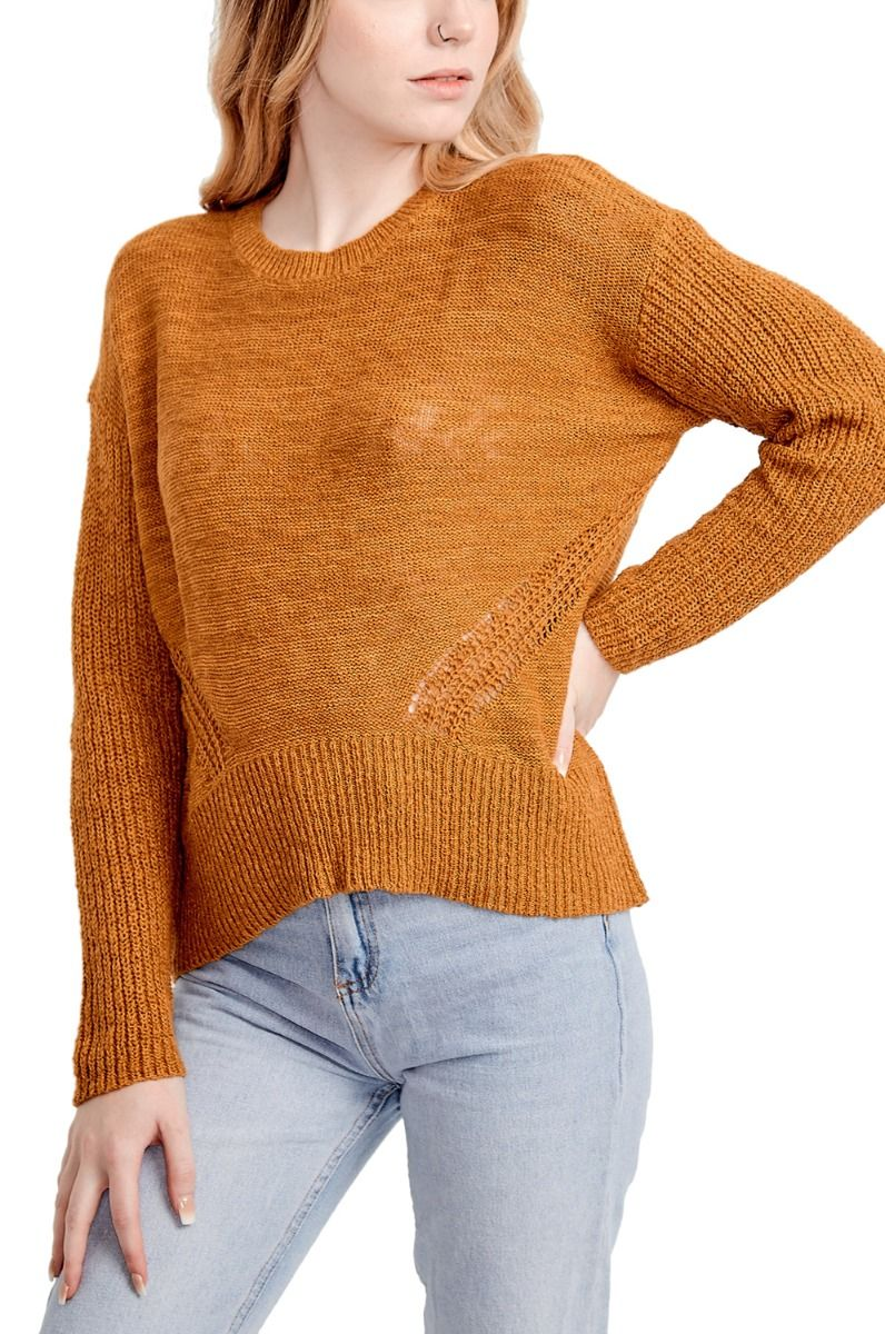 Element Sweater SPLIT UP Gold Brown